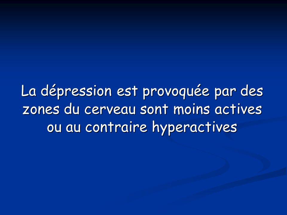 La dépression est provoquée par des zones du cerveau sont moins actives ou au contraire hyperactives