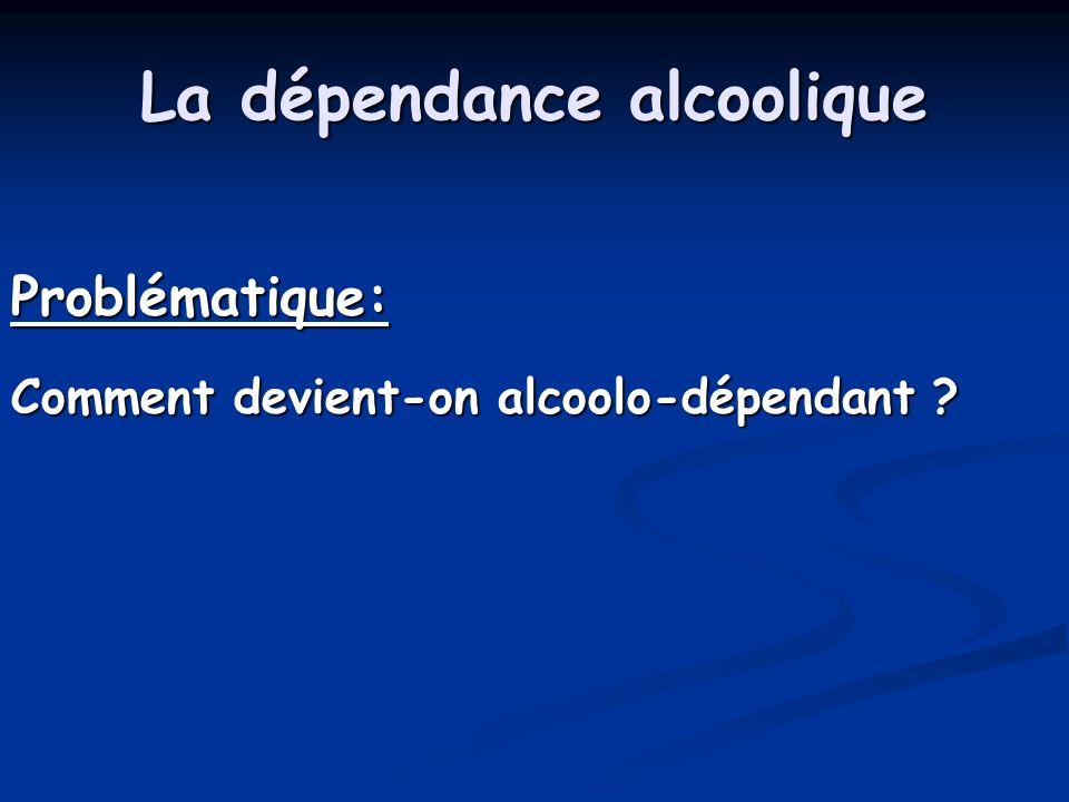 La dépendance alcoolique Problématique: Comment devient-on alcoolo-dépendant ?