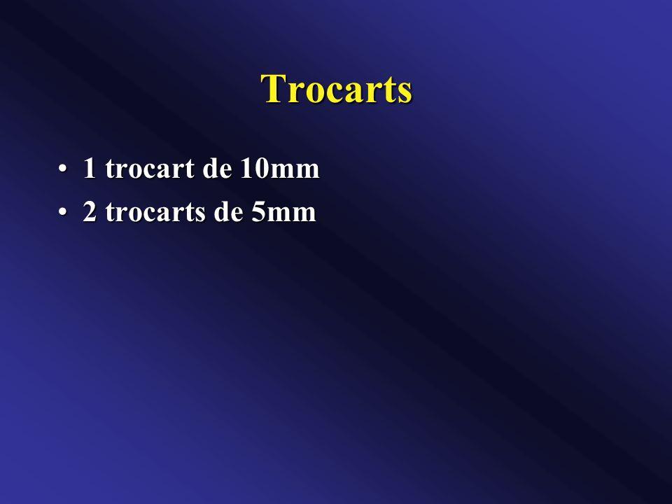 Trocarts 1 trocart de 10mm1 trocart de 10mm 2 trocarts de 5mm2 trocarts de 5mm