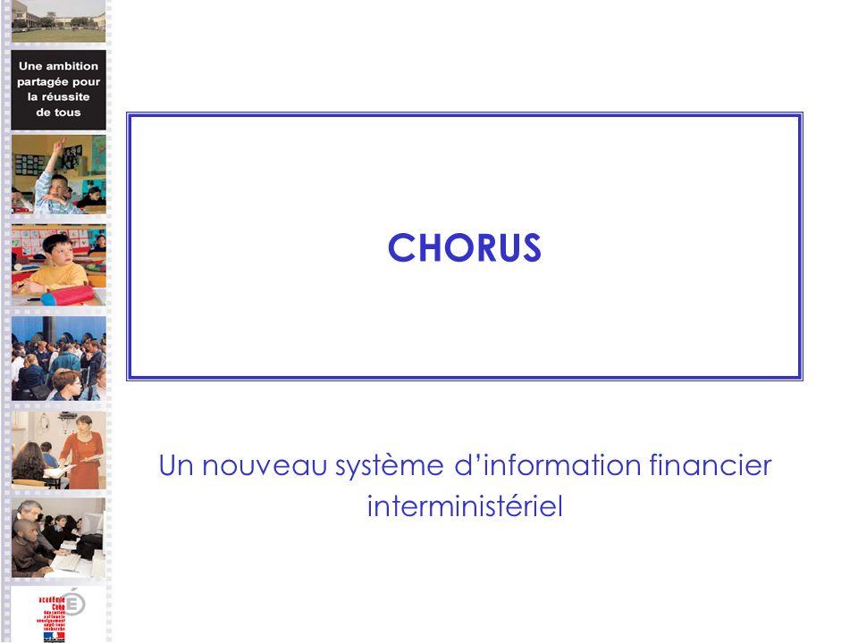 CHORUS Un nouveau système dinformation financier interministériel