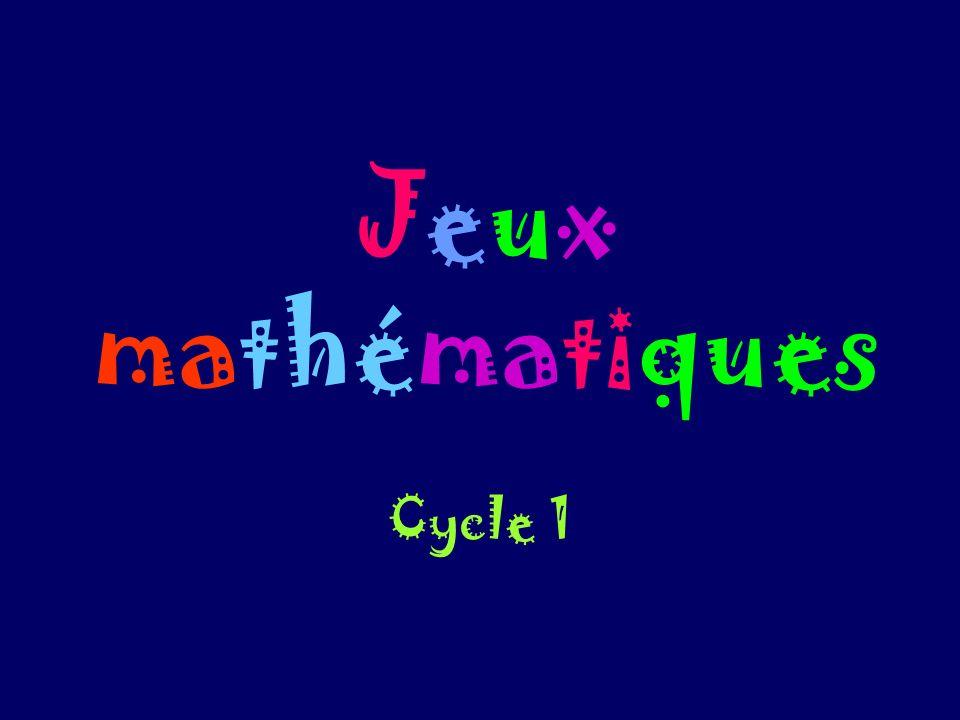 Jeux mathématiques Cycle 1