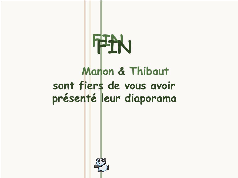 FIN FIN Manon & Thibaut sont fiers de vous avoir présenté leur diaporama