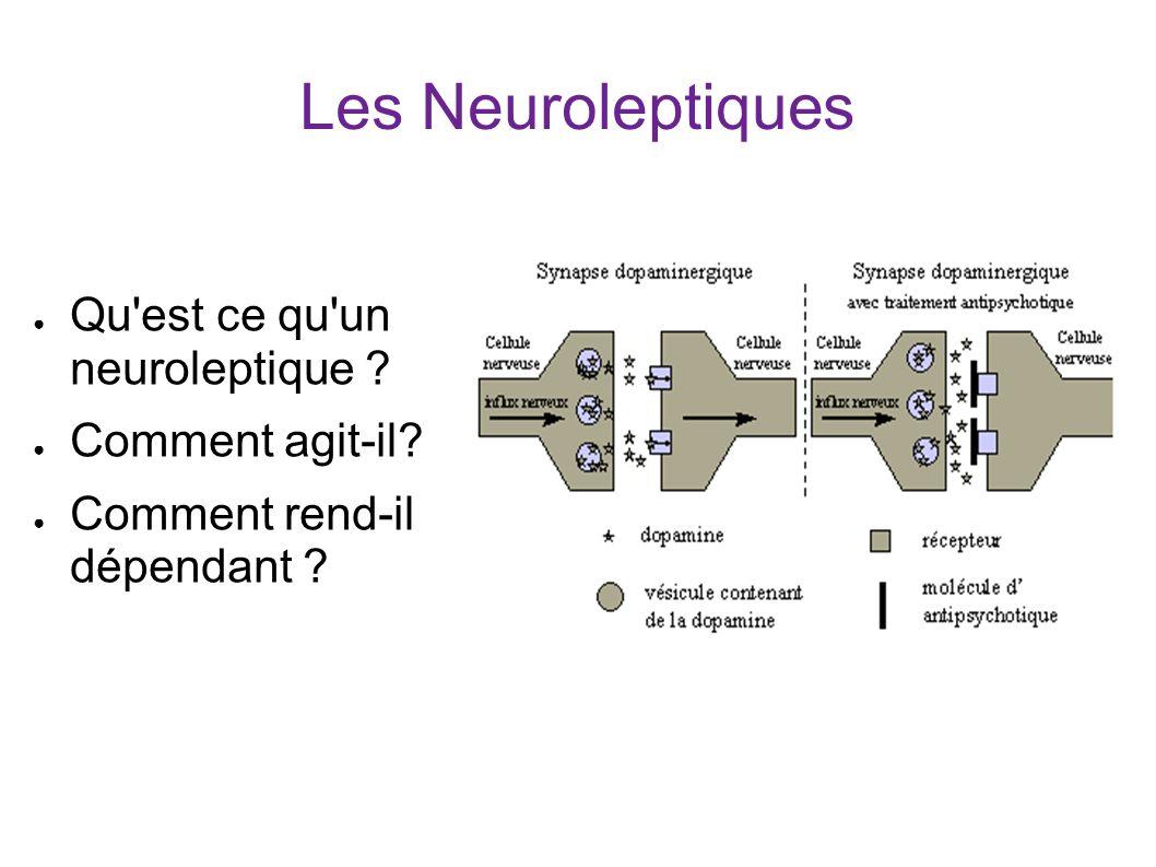 Les Neuroleptiques Qu est ce qu un neuroleptique ? Comment agit-il? Comment rend-il dépendant ?