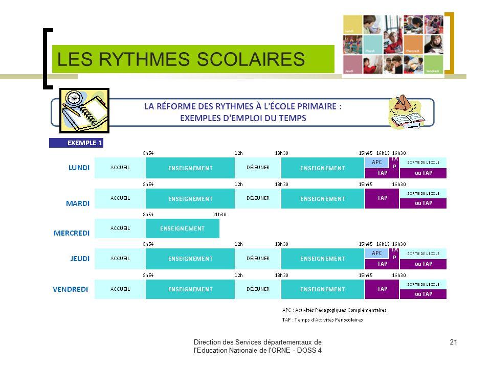 Direction des Services départementaux de l'Education Nationale de l'ORNE - DOSS 4 21Direction des Services départementaux de l'Education Nationale de