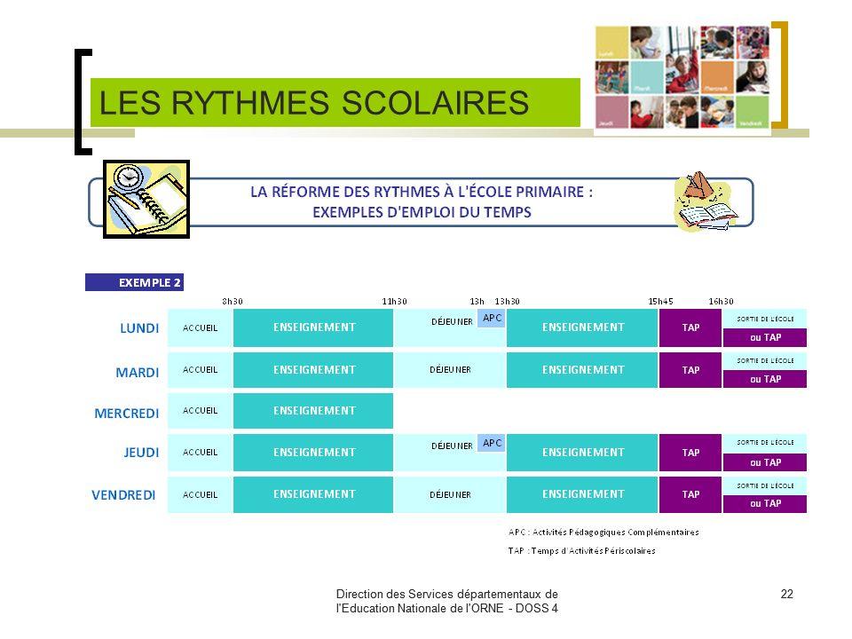Direction des Services départementaux de l'Education Nationale de l'ORNE - DOSS 4 22Direction des Services départementaux de l'Education Nationale de