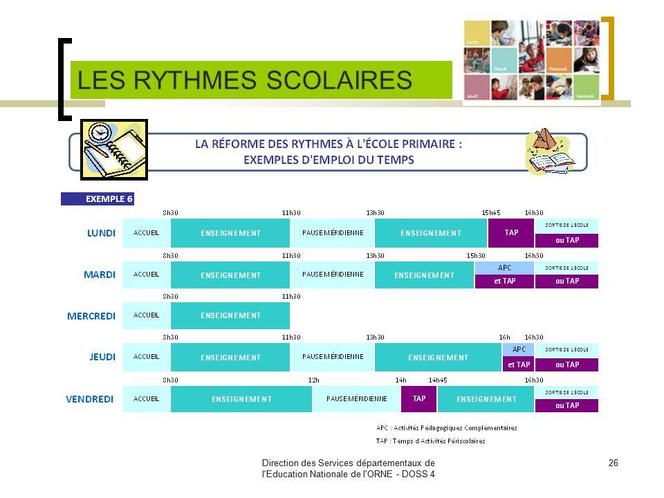 Direction des Services départementaux de l'Education Nationale de l'ORNE - DOSS 4 26Direction des Services départementaux de l'Education Nationale de