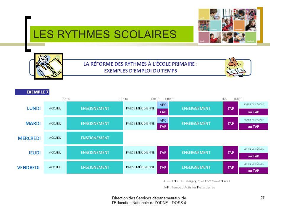 Direction des Services départementaux de l'Education Nationale de l'ORNE - DOSS 4 27Direction des Services départementaux de l'Education Nationale de