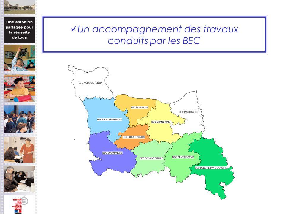 Un accompagnement des travaux conduits par les BEC
