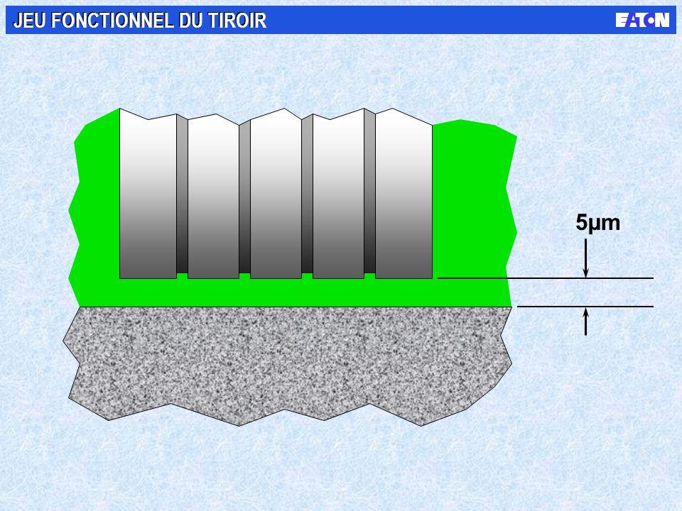 5µm JEU FONCTIONNEL DU TIROIR
