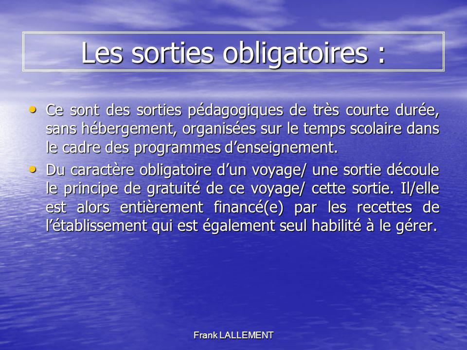 Frank LALLEMENT Le FSE (Foyer Socio Educatif) Il sagit dun don.