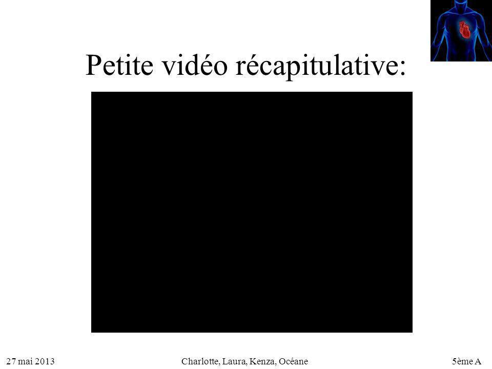 27 mai 20135ème ACharlotte, Laura, Kenza, Océane Petite vidéo récapitulative:
