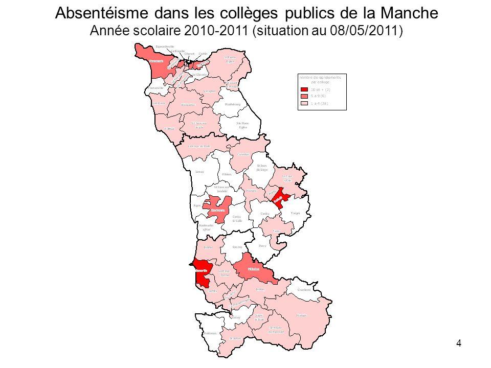 5 Absentéisme dans les lycées publics de la Manche Année scolaire 2010-2011 (situation au 26/05/2011)