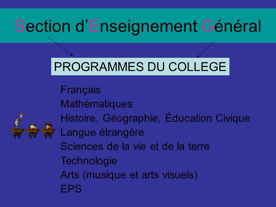 Enseignement Professionnel En 4 ème et 3 ème Cours en ateliers professionnels Stages en entreprise