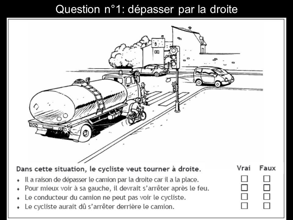 Question n°2 : dépasser par la droite