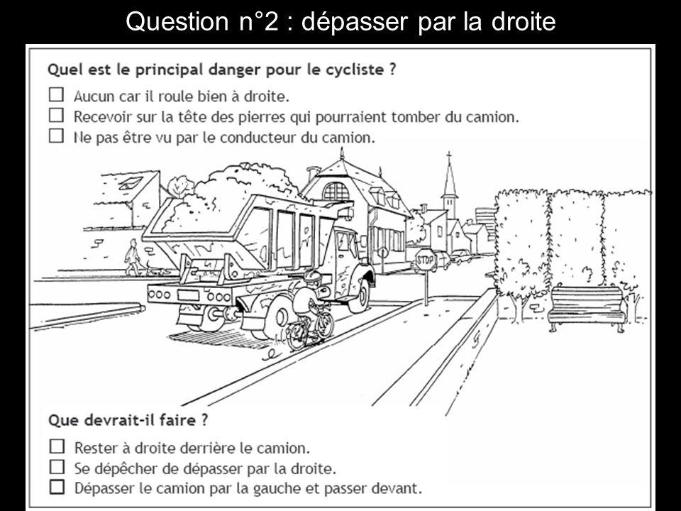 Question n°13 : tourner à gauche.