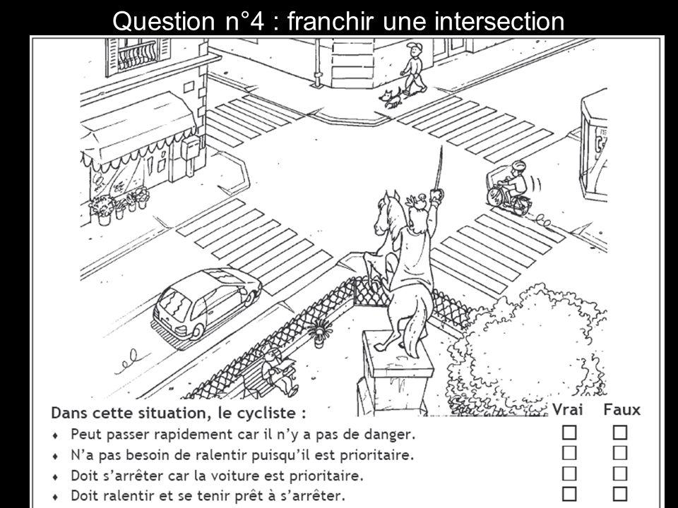 Question n°15 : tourner à gauche.