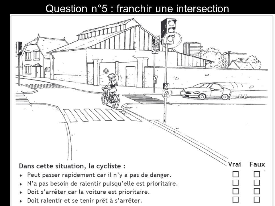 Question n°16 : franchir un carrefour à sens giratoire.