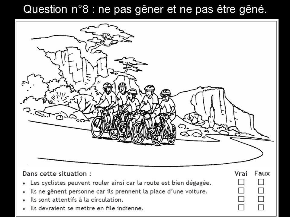 Question n°19 : utiliser les pistes et bandes cyclables