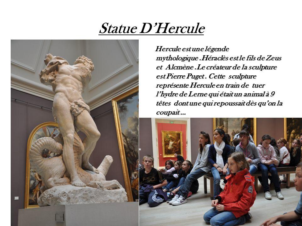 Statue DHercule Hercule est une légende mythologique.Héraclès est le fils de Zeus et Alcmène.Le créateur de la sculpture est Pierre Puget. Cette sculp