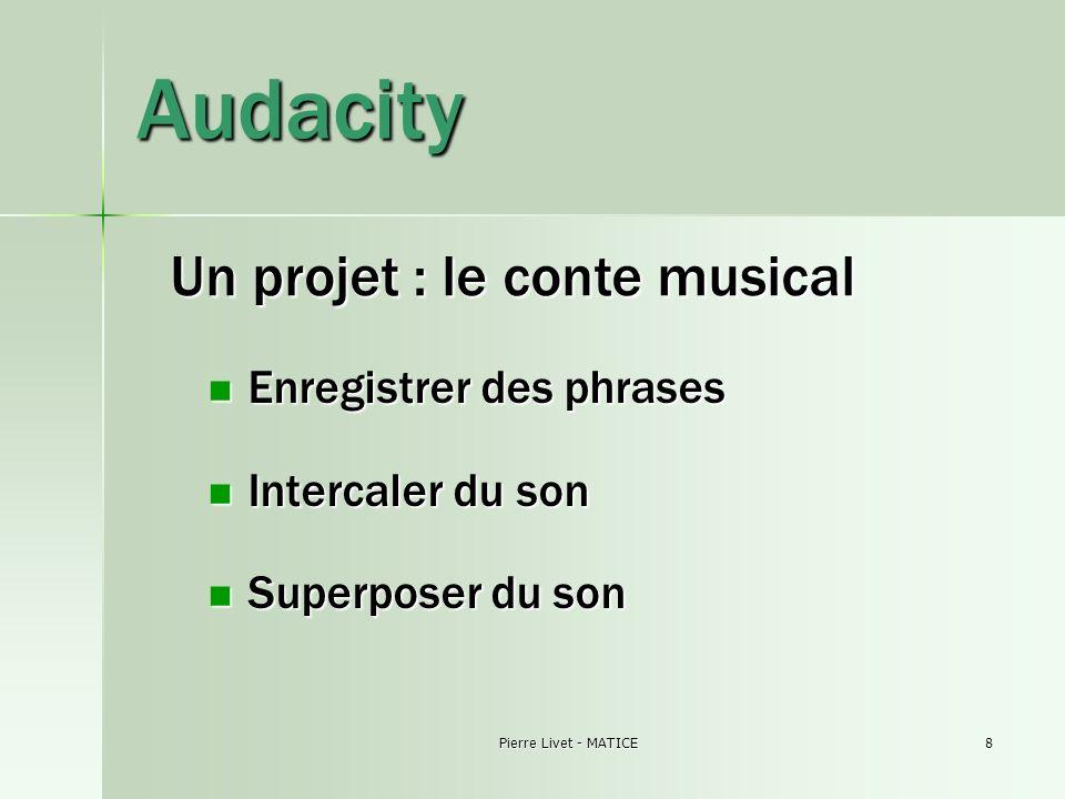 Pierre Livet - MATICE9 Finaliser un projet Une gravure sur CD audio (.cda) Une gravure sur CD audio (.cda) Des fichiers compressés « nomades » Free mp3 wma converter Des fichiers compressés « nomades » Free mp3 wma converter