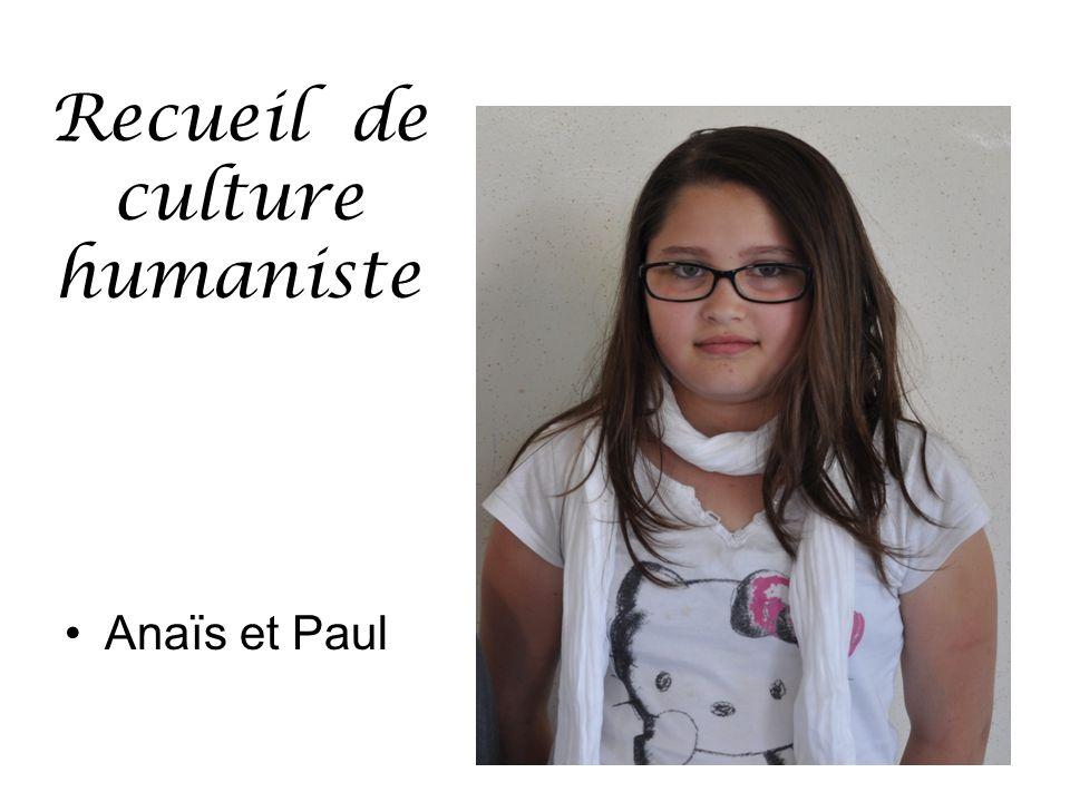 Recueil de culture humaniste Anaïs et Paul