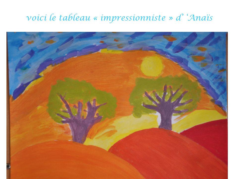 voici le tableau « impressionniste » d Anaïs