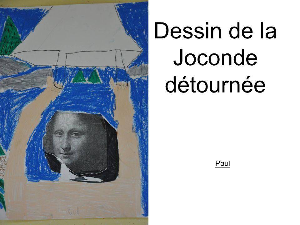 Dessin de la Joconde Détournée ANAIS-FINET