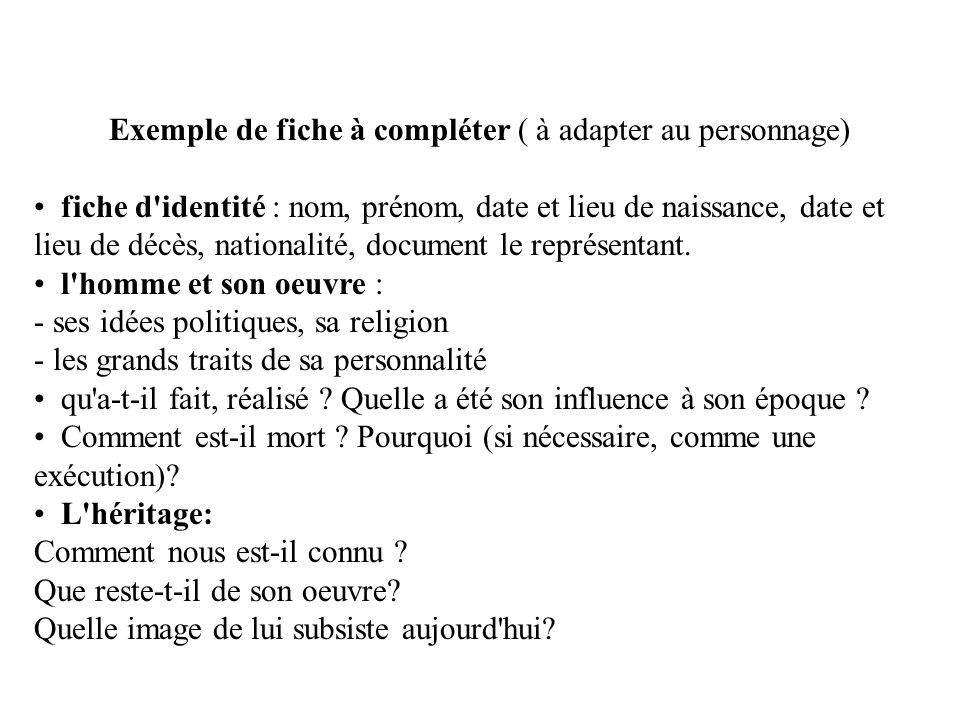 Complétez le tableau suivant MontesquieuVoltaireRousseau Dates et aspects importants de leur vie Œuvres célèbres Forme de gouvernement quils prescrivent Idées quils ont en commun