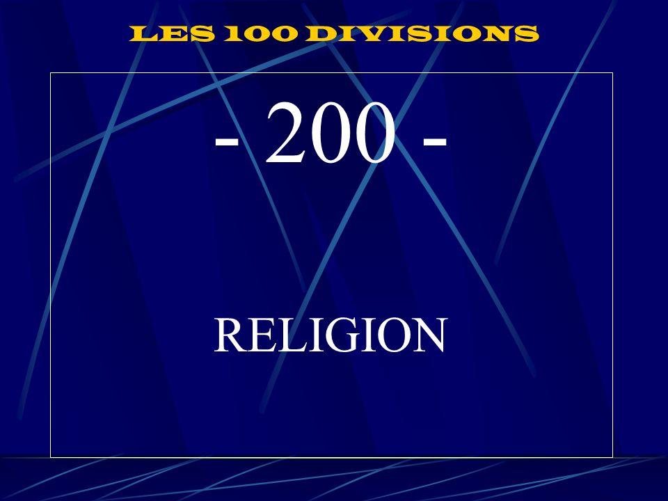 LES 100 DIVISIONS - 200 - RELIGION