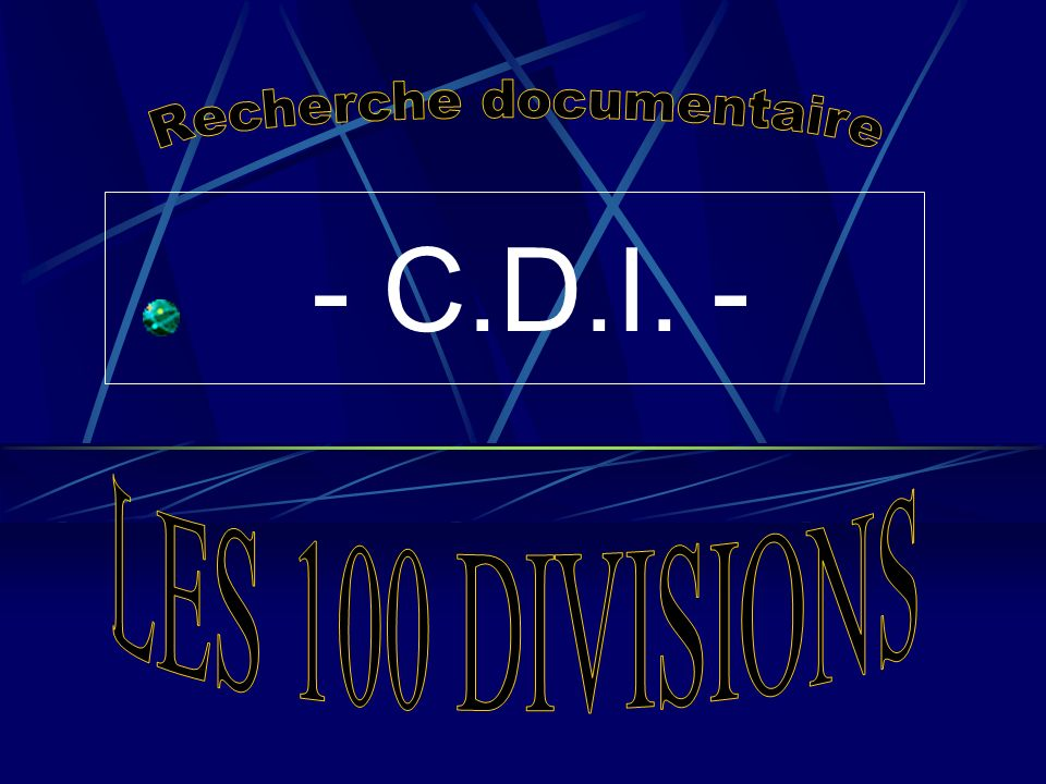 - C.D.I. -