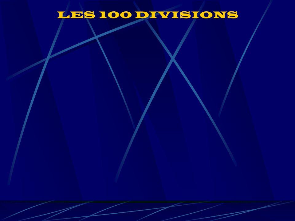 LES 100 DIVISIONS