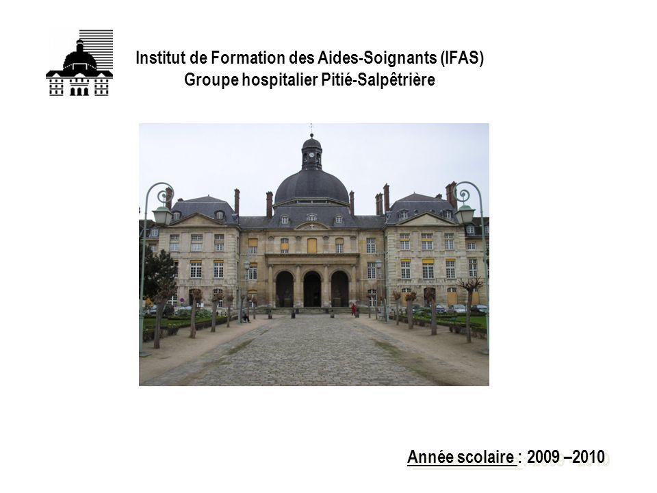 FIN Institut de Formation des Aides-Soignants (IFAS) Groupe hospitalier Pitié-Salpêtrière Année scolaire : 2009 –2010