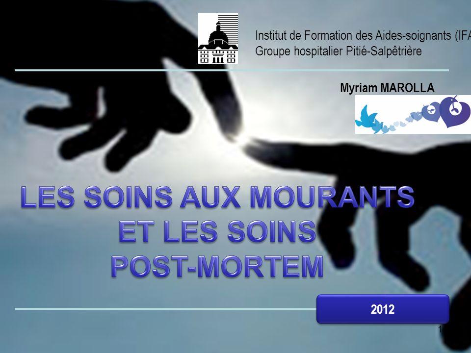 1 Institut de Formation des Aides-soignants (IFAS) Groupe hospitalier Pitié-Salpêtrière 2012 Myriam MAROLLA