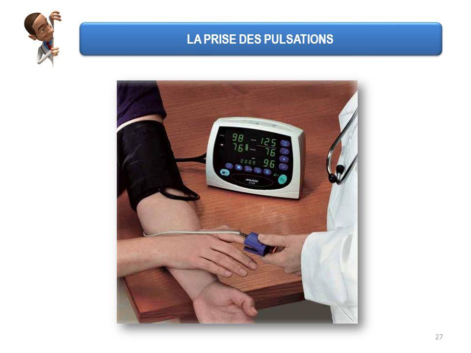 27 LA PRISE DES PULSATIONS