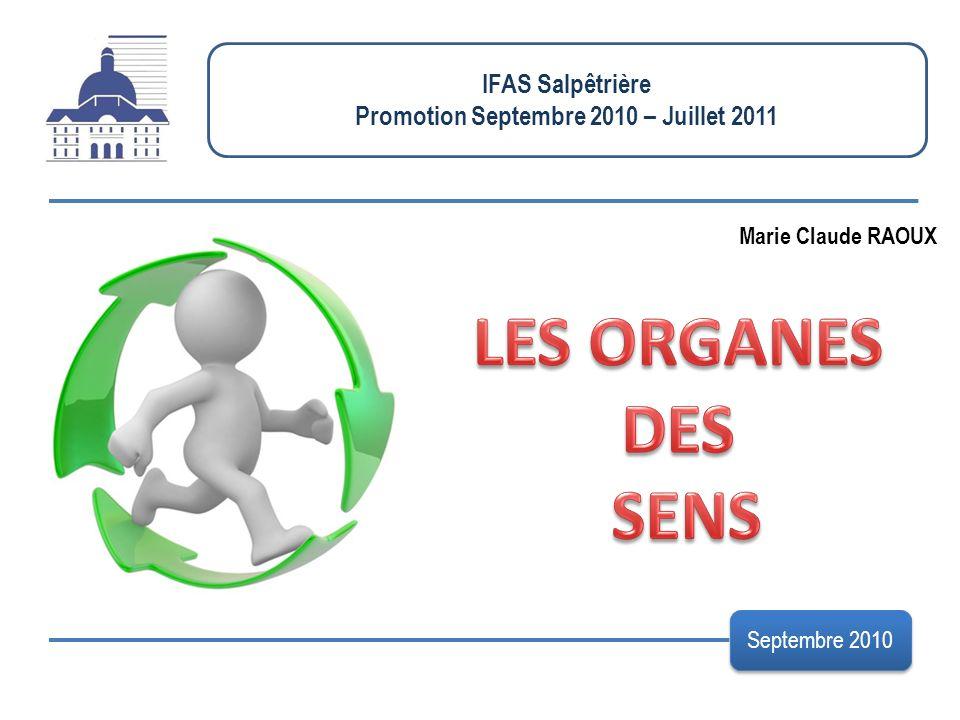 IFAS Salpêtrière Promotion Septembre 2010 – Juillet 2011 Septembre 2010 Marie Claude RAOUX