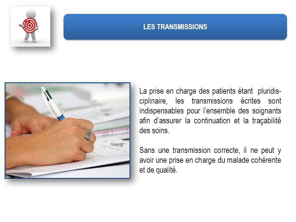 Transmission ecrite aide soignante
