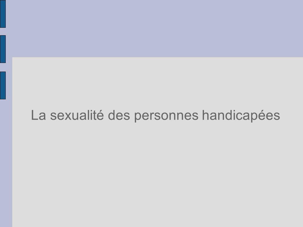 La sexualité des personnes handicapées