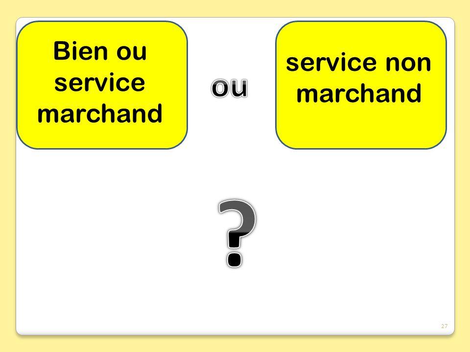 Bien ou service marchand service non marchand 27