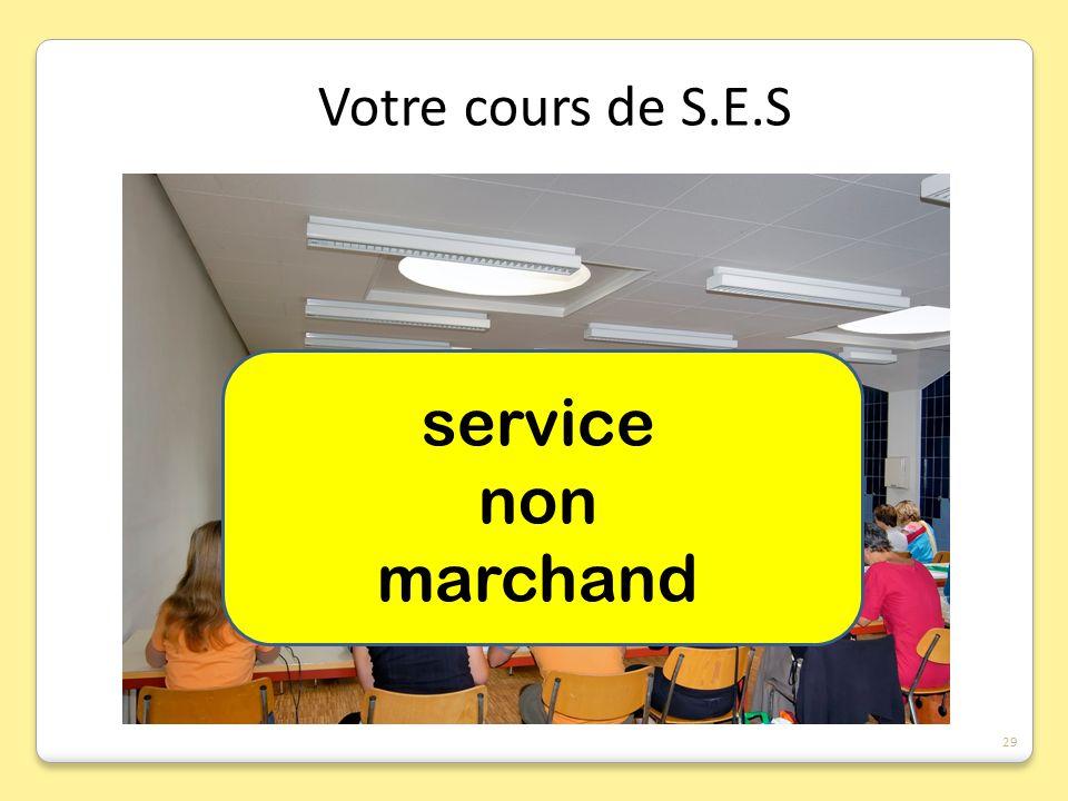 service non marchand Votre cours de S.E.S 29