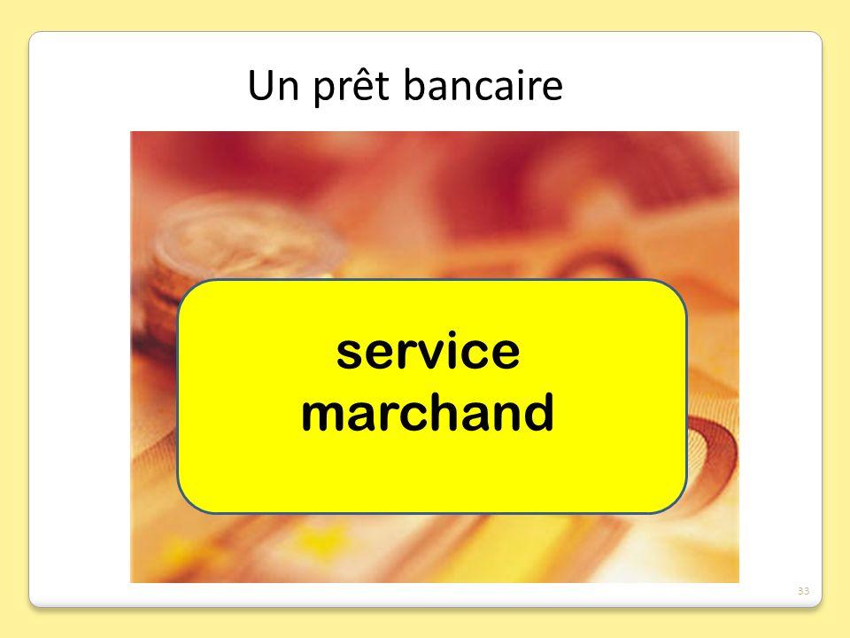 service marchand Un prêt bancaire 33