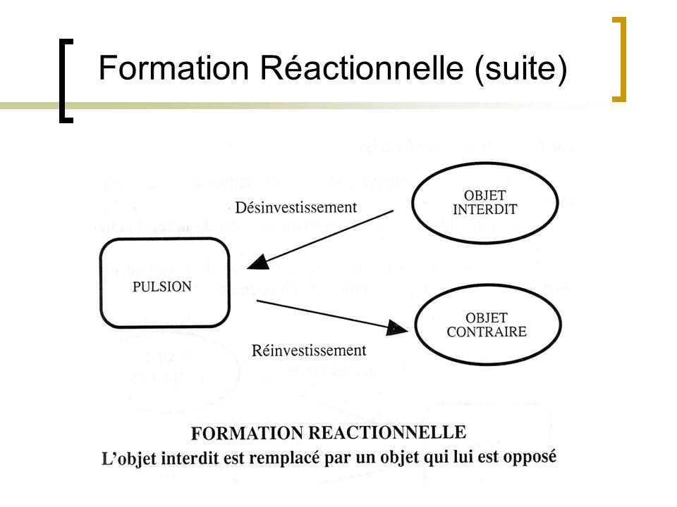 Formation Réactionnelle (suite)
