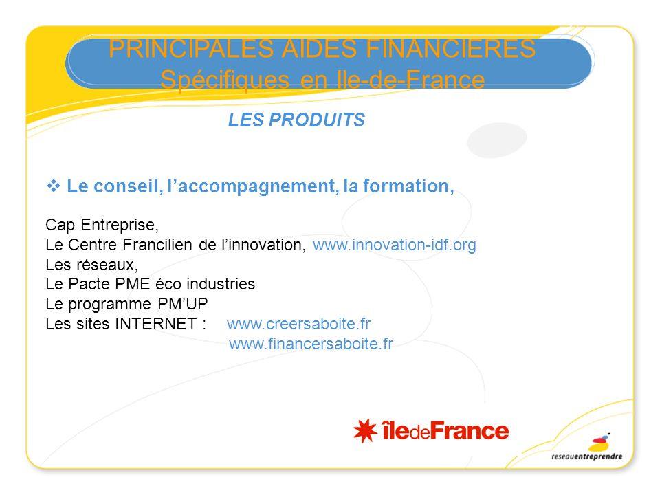 Le conseil, laccompagnement, la formation, Cap Entreprise, Le Centre Francilien de linnovation, www.innovation-idf.org Les réseaux, Le Pacte PME éco i