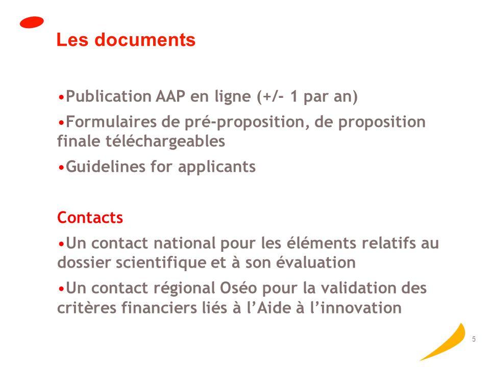 6 Critères dévaluation Technological/Scientific Innovation Social and Economic perspective Consortium and Project Management Resources