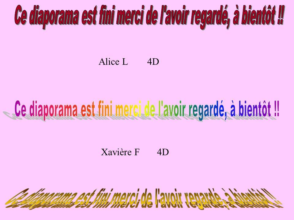 Alice L 4D Xavière F 4D