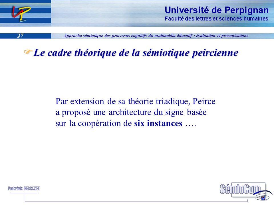 Université de Perpignan Faculté des lettres et sciences humaines 27 Approche sémiotique des processus cognitifs du multimédia éducatif : évaluation et