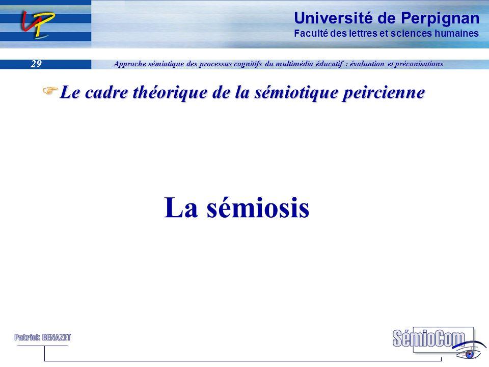 Université de Perpignan Faculté des lettres et sciences humaines 29 Approche sémiotique des processus cognitifs du multimédia éducatif : évaluation et