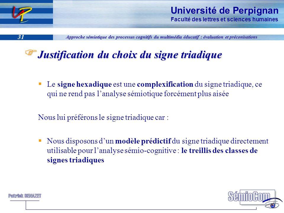 Université de Perpignan Faculté des lettres et sciences humaines 31 Approche sémiotique des processus cognitifs du multimédia éducatif : évaluation et