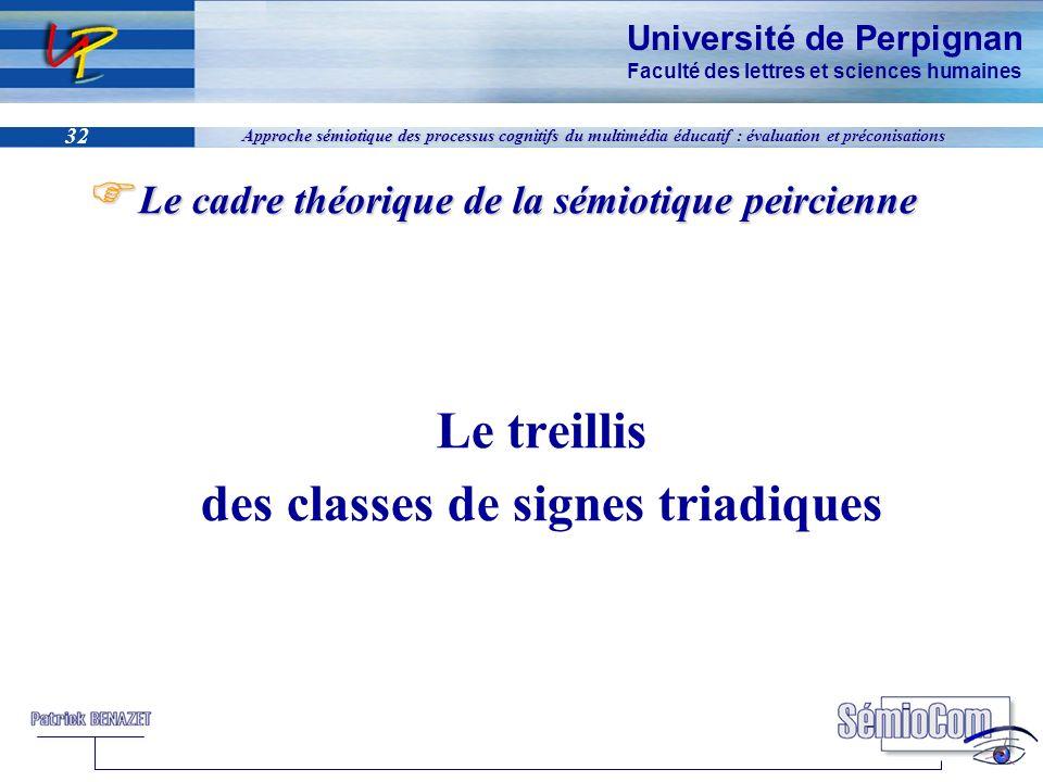 Université de Perpignan Faculté des lettres et sciences humaines 32 Approche sémiotique des processus cognitifs du multimédia éducatif : évaluation et