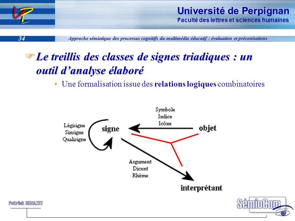 Université de Perpignan Faculté des lettres et sciences humaines 34 Approche sémiotique des processus cognitifs du multimédia éducatif : évaluation et
