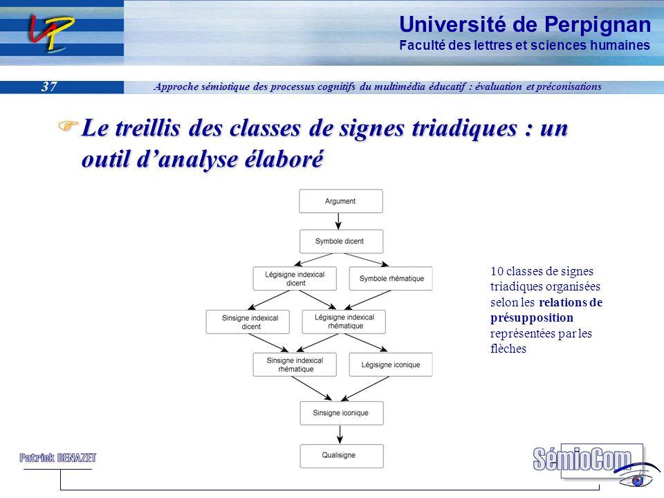 Université de Perpignan Faculté des lettres et sciences humaines 37 Approche sémiotique des processus cognitifs du multimédia éducatif : évaluation et